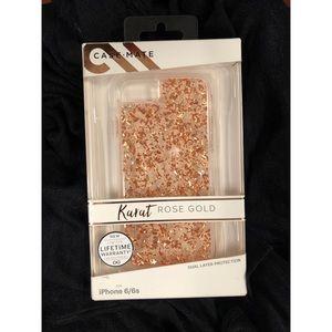 Accessories - Karate Rose Gold iPhone 6/6s Casemate Case